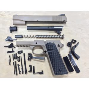 1911 TACTICAL 80% BUILDERS KIT FDE YOUR CHOICE .45 ACP OR 9mm