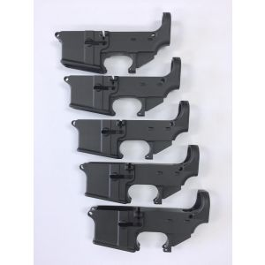 5-Pack Black Hard Anodized Forged 5.56/.223 80% Lower Receiver