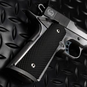 1911 PX™-09 Standard Size - Pistol Grips (Golf Ball Dimple Pattern, Semi-Gloss Black)