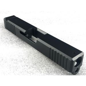 Glock 19 Slide with Front and Rear Serrations Black