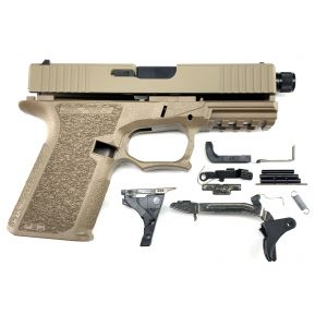 Polymer80 PF940C FDE Complete Patriot 19 80% Pistol Build Kit With Threaded 9mm Barrel