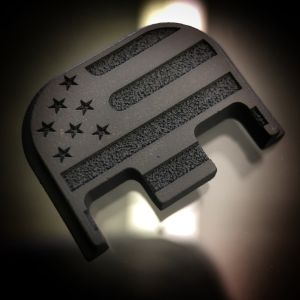 Titanium American Flag - BLACKOUT