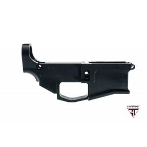 SALE $13 OFF Juggernaut AR-15 80% Billet Black Ano Lower Receiver NO LOGO