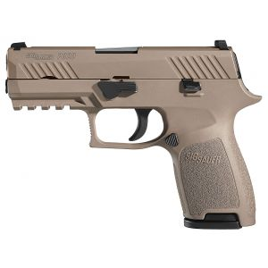 80% SIG SAUER P320 FDE COMPACT DOUBLE 9MM LUGER 3.9