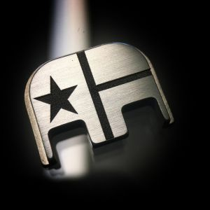 Titanium Texas Flag Back Plate