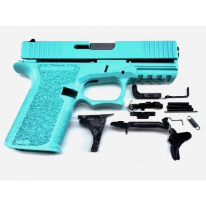Polymer80 PF940C Robins Egg Tiffany Blue Complete Patriot 19 80% Pistol Build Kit 9mm