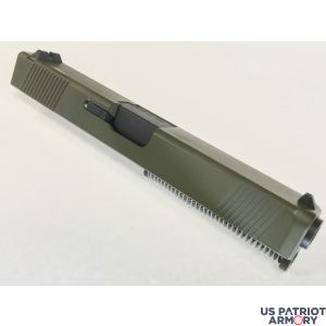 COMPLETE NEW BUILT STAINLESS STEEL OD GREEN CERAKOTE G17 UPPER