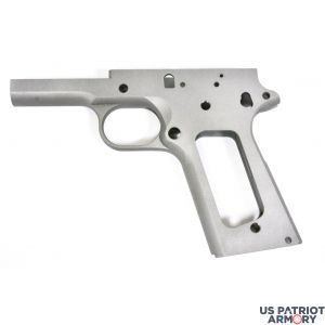 1911 80% FULL SIZE GOVERNMENT FRAME 416R STAINLESS STEEL WITH SMOOTH GRIP FOR NON RAMPED BARRELS
