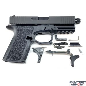 Polymer80 PF940C BLACK Complete Patriot 19 80% Pistol Build Kit With Threaded 9mm Barrel
