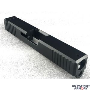 Glock 17 Slide With Front And Rear Serrations Black
