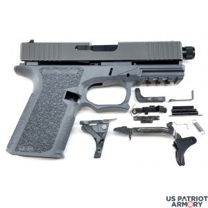 Polymer80 PF940C GREY Complete Patriot 19 80% Pistol Build Kit With Threaded 9mm Barrel