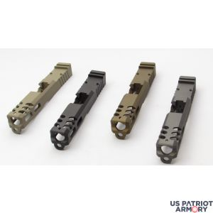 Patriot Glock 19 Or 17 Custom Windowed Slides With Trijicon RMR Cut Out