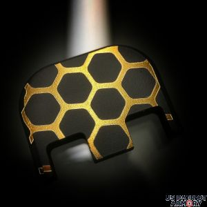 Black Cerakoted Titanium Gold: Honeycomb