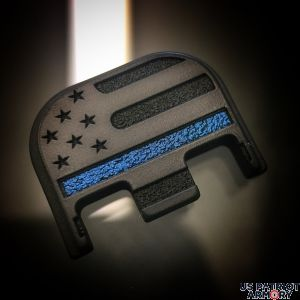 Black Cerakoted Titanium American Flag BLACK-OUT Thin Blue Line