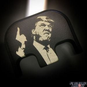 Black Cerakoted Stainless Steel Traditional President Trump